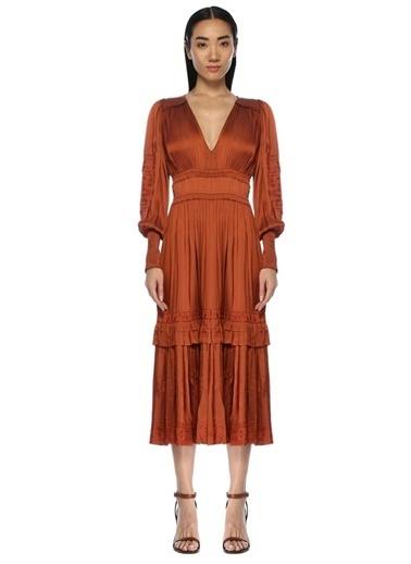 Beymen&Designer Elbise Bordo